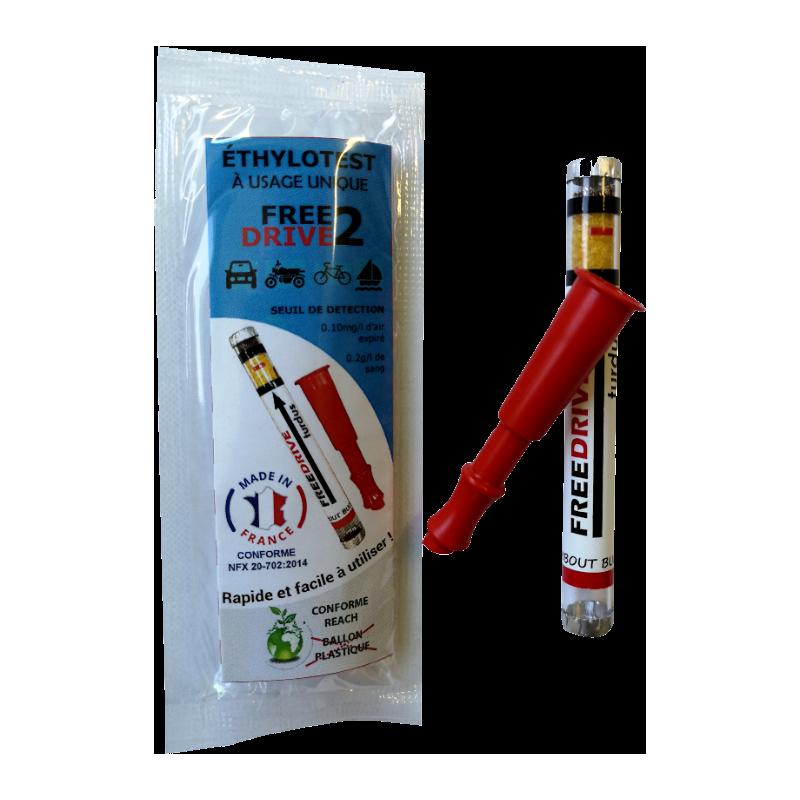 Éthylotest a usage unique 0,2 g/l (jeune conducteur)
